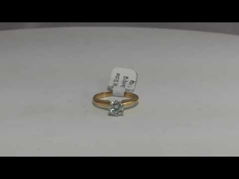 .50 ct Diamond Solitaire Ring 14k Yellow Gold Estate Find Sz 4.50