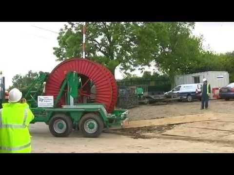 Laying of 132 kV Cable / Kabelverlegung 132 kV