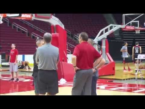 Houston Rockets shooting around after their first practice of 2016-17 season
