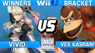 This Super Smash Bros. 4 Wii U tournament match features Vivid as Corrin vs Vex Kasrani as Donkey Kong. This Winners Bracket match at SMASHADELPHIA 2017 was livestreamed on 06/24/17.Enjoy the video? Hit the like button and drop a comment and let us know your favorite part. Share it with your friends and spread the hype!Check out our website:► http://clashtournaments.comWatch our live streams:► http://twitch.tv/clashtournaments► http://hitbox.tv/clashtournamentsFind us on social media:► http://facebook.com/clashtournaments► http://youtube.com/clashtournaments► http://twitter.com/clashtournament► http://instagram.com/clashtournamentsBe sure to Follow and Subscribe to us to keep up to date on all of our content. Click the bell next to the subscribe button to receive instant notifications on all uploads!