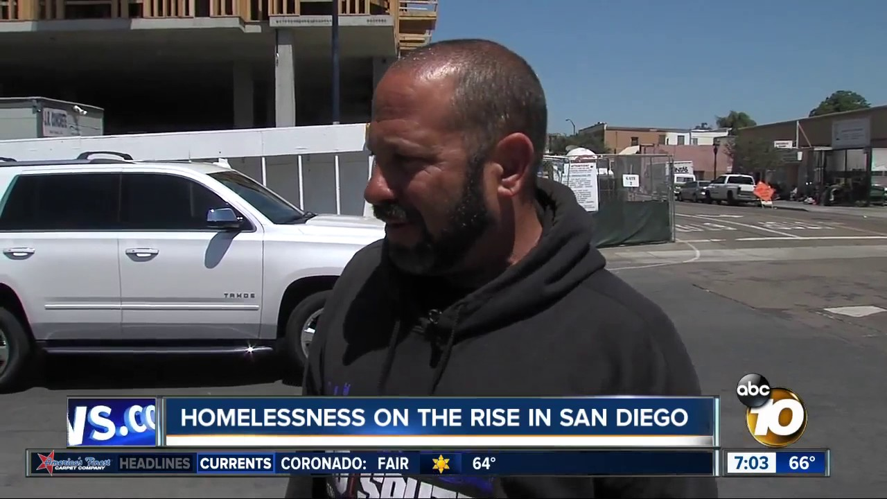 Homelessness on the rise in San Diego