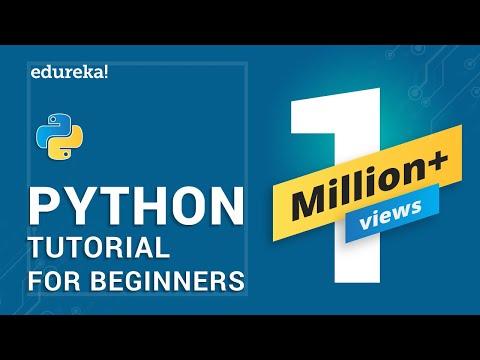 Python Tutorial   Python Tutorial for Beginners   Python Training   Edureka