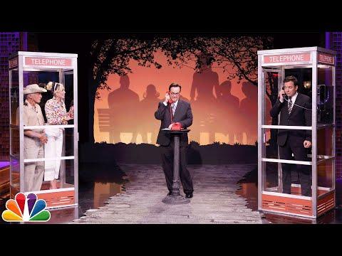 مايلي سايرس تكسب مقدم البرامج جيمي فالون في لعبة كابينة الهاتف