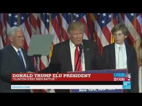 """REPLAY – Discours de Donald Trump : """"Je veux être le président de tous les Américains"""""""