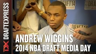 Andrew Wiggins - 2014 NBA Draft Media Day