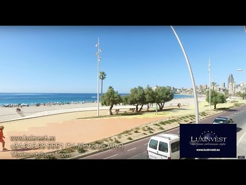 Apartments in Spain. Apartment in Benidorm. First line of the sea, Poniente beach