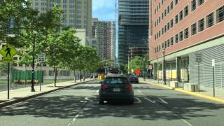 Jersey City (NJ) United States  city pictures gallery : Driving Downtown - The Waterfront - Jersey City New Jersey USA