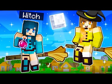 Going to WITCH SCHOOL in Minecraft!