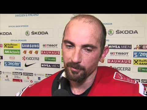 switzerland - SUI-CZE 2-1 Post Game Comments from Gerber (SUI) and Simpson (SUI)