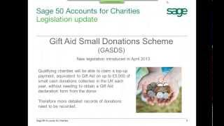 Sage 50 Accounts 2013 For Charities And Non-profit Organisations