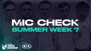 Kia #LEC Mic Check: Week 7 (Summer 2020) by League of Legends Esports
