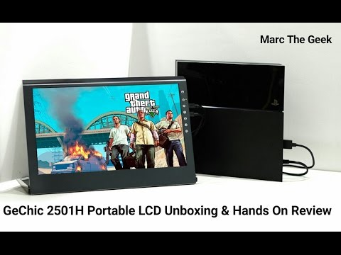 GeChic 2501H Portable LCD Unboxing & Hands On Review