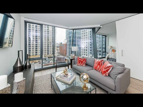 A 1-bedroom model at The Paragon, a new, amenity-rich South Loop tower