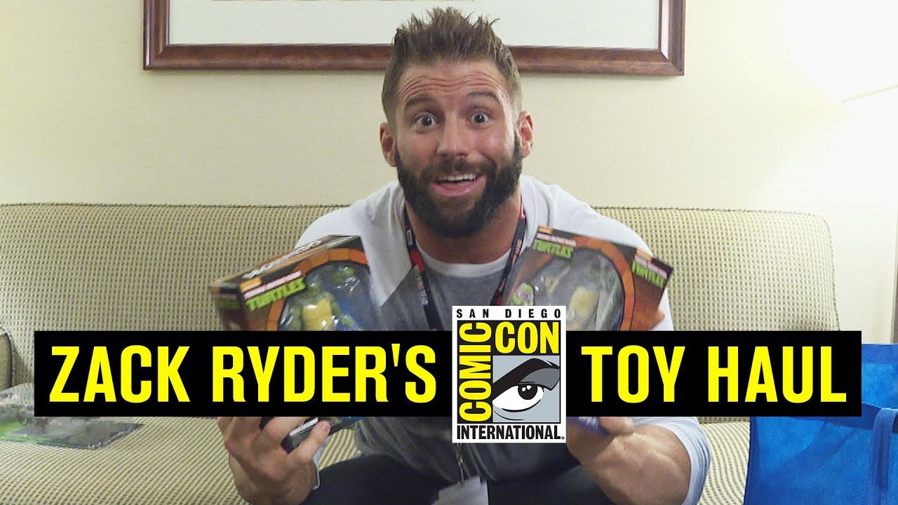 Zack Ryder shows off his San Diego Comic-Con toy haul