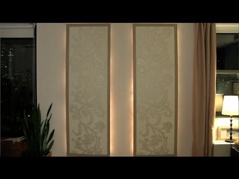 How to make lighted floating wall panels