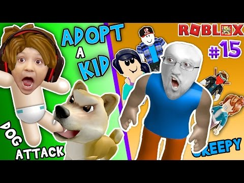 ROBLOX ADOPT & RAISE A CUTE KID! Dog Attacks Baby! (FGTEEV Part 15 Whos Your Daddy Style Roleplay) (видео)