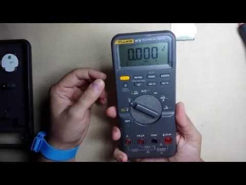 Cambio lcd multimetro Fluke 87 V display roto