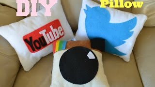 ✂ DIY: Social Media Pillows - YouTube