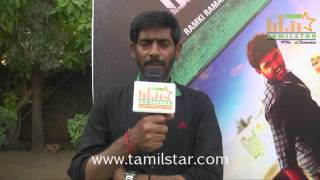 Ramki Ramakrishnan at  Kamar Kattu Movie Team Interview