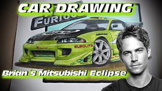 Nonton Brian´s 1995 Mitsubishi Eclipse [The Fast and the Furious] Car Drawing by Fast Art Film Subtitle Indonesia Streaming Movie Download