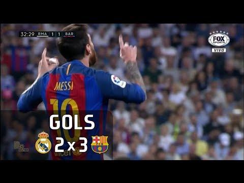 Gols - Real Madrid 2 x 3 Barcelona - La Liga 16-17 - Fox Sports HD