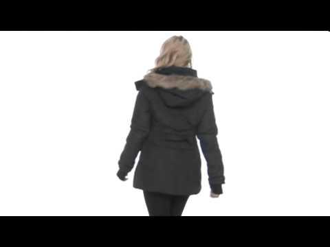 Betsey Johnson - 3/4 Length Angel Down w/ Fur Trimmed Hood SKU:#8042331