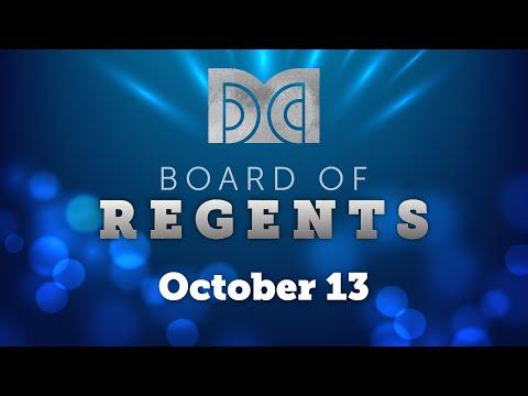 DMC Board of Regents - Regular Meeting (10-13-2020)