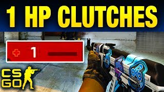 CS:GO  https://csgoempire.com/r/guides  These are the best 1 HP Clutches in CS:GO History. Pro CSGO players are nearly always putting more thought into their plays than you or I probably ever have.  Add the fact that these players had one single health point to survive, and you just created an entirely new mindset that you have to perfectly execute in order to pull off the win.  These 10 plays were pulled off with each player being left with 1 HP by the end.  Pay attention to these plays to see if you think that you could have won in these scenarios. And without any more delay, let's get into these.▼ More CSGO!▼Follow Us on Social Media!★ Twitter: http://Twitter.com/UltraGuides★ Discord: https://discord.gg/ultra★ Twitch: http://Twitch.tv/UltraGuides___That just about does it for this video guys, Top 10 Pro 1 HP Clutches In CS:GO History, if you want to see more videos like this as they are made public, subscribe. If you want to enter in some sick giveaways, you can follow us on twitter @UltraGuides. If you wanna hang with me and the other UG members, you can join our Discord server.  Thank you so much for staying till the end of the video. Stay amazing, and we will see you, in the next one.