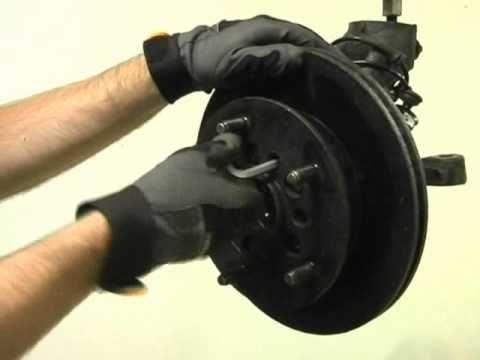 1091-10 Replacing of hub and wheel bearing Ford Transit
