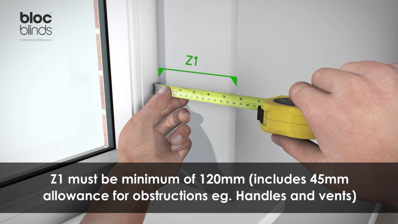 measure recess mount Zebra roller blind