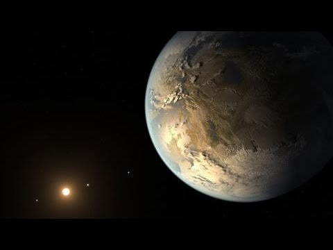 Planet - Astronomers have discovered a world nearly the size of Earth orbiting a far star where water might exist as a life-giving liquid. Robert Lee Hotz reports on ...