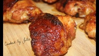 To get this Recipe, check out my website: http://cookedbyjulie.com/index.php/categories/let-s-do-lunch/40-spicy-honey-baked-chicken.