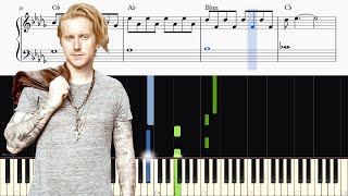 Video We The Kings - Sad Song (feat. Elena Coats) - Piano Tutorial + SHEETS download in MP3, 3GP, MP4, WEBM, AVI, FLV January 2017