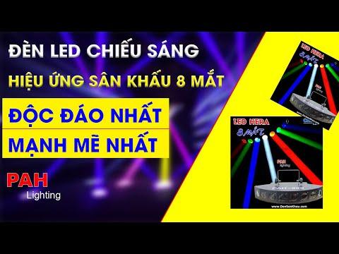 Đèn LED Beam hiệu ứng 8 mắt siêu sáng gắn Beer club, cafe DJ