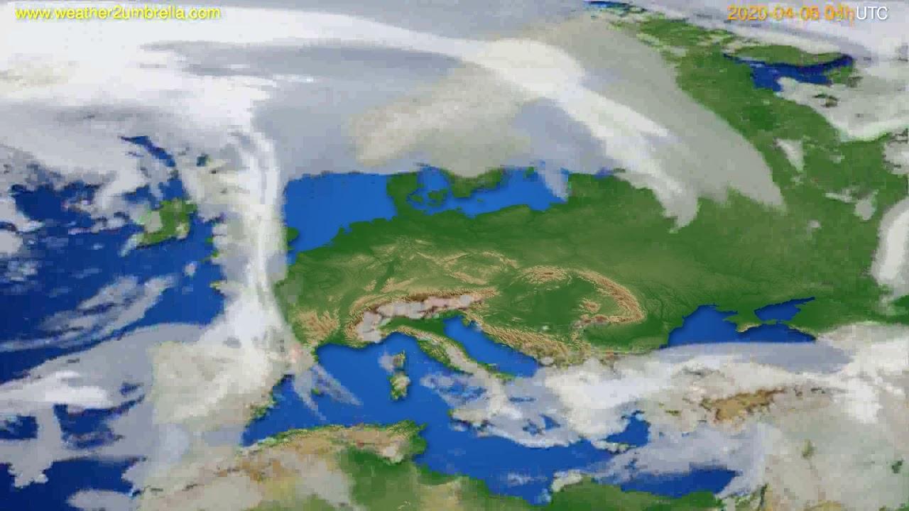 Cloud forecast Europe // modelrun: 12h UTC 2020-04-05