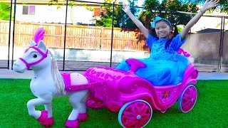 Wendy Pretend Play w/ Princess Ride On Horse Carriage & Dress Up Kids Toy