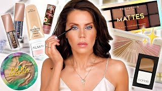 Full Face of New DRUGSTORE MAKEUP Tested by Glam Life Guru