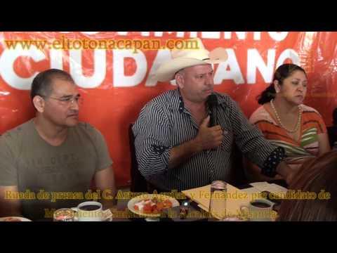 Rueda de prensa del C. Arturo Aguilar y Fernández pre candidato de Movimiento Ciudadano a la Alcaldía de Misantla.
