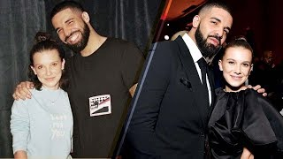 Millie Bobby Brown REUNITES with Drake at the 2018 Golden Globes Afterparty!
