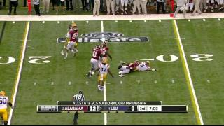 Courtney Upshaw vs LSU BCS Championship