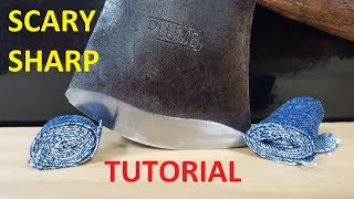 Video How to Sharpen a Hatchet or Axe to a Scary Sharp Edge! MP3, 3GP, MP4, WEBM, AVI, FLV Juni 2019