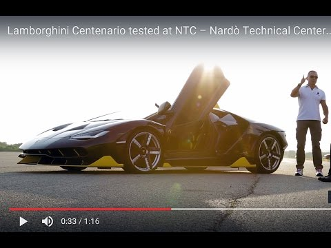 lamborghini centenario - test drive @nardò technical center