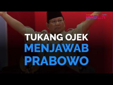 Tukang Ojek Menjawab Prabowo