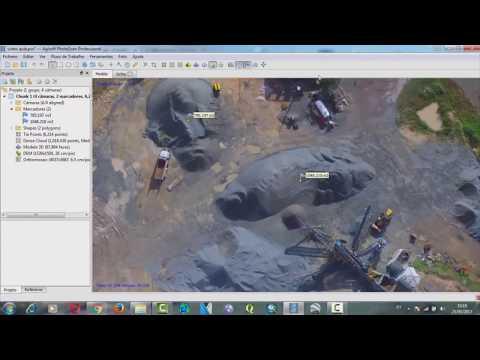 Tutorial Agisoft PhotoScan - Nuvem de Pontos - Modelo 3D - Mosaico e Cálculo de Volumes