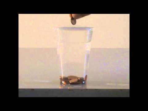 Water's surface tension - physics experiment