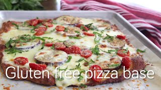 Cheese and herb gluten free pizza base