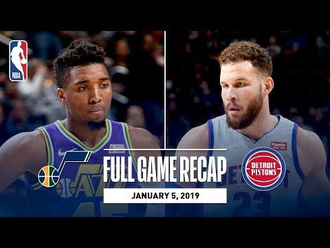 Video: Full Game Recap: Jazz vs Pistons | Blake Griffin Goes For 34 & 10