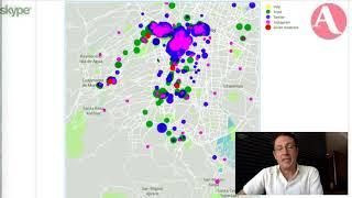 Carlos Páez, de Mesura, muestra la herramienta que mapea datos útiles para tomar decisiones de negocio. ///// Visita...
