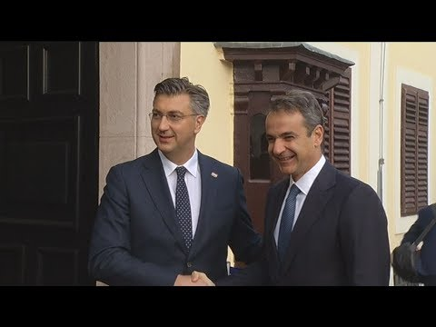 Συνάντηση πρωθυπουργού Κυριάκου Μητσοτάκη με τον Κροάτη ομόλογό του, στο Ζάγκρεμπ