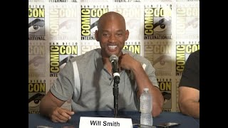 "Speaking at Comic-Con in San Diego, Will Smith talks about new fantasy Netflix movie ""Bright"" in which he plays ""a police officer that was racist against the first orc on the force."" (July 20)Subscribe for more Breaking News: http://smarturl.it/AssociatedPress